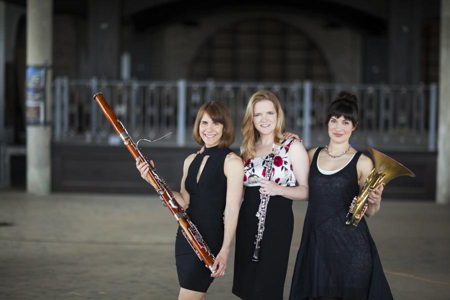 ROCO Musicians Kristin Wolfe Jensen, Alecia Lawyer, and Danielle Kuhlmann